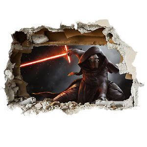 feature wall stickers wars kylo ren wall smash childrens feature wall wall