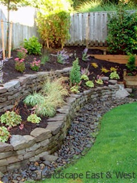 backyard drainage system stone bench retaining walls and benches on pinterest