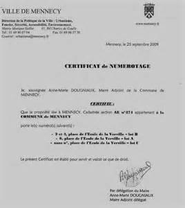 E Cv Online by Modele Certificat Numerotage Voirie Document Online