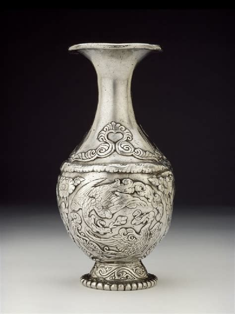 silver vase ashmolean eastern art online yousef jameel centre for