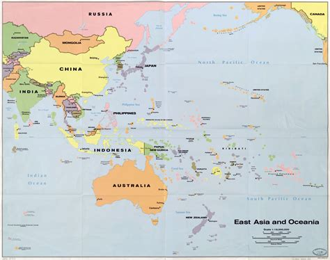 map of asia and australia maps of australia and oceania and oceanian countries