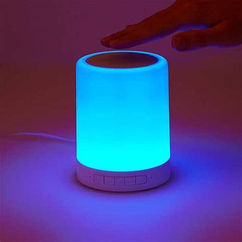 color changing speaker color changing mood light speaker touch