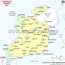 ireland cities map cities in ireland