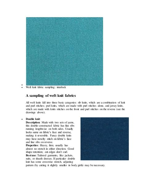 types of knit fabric types of knitted fabric