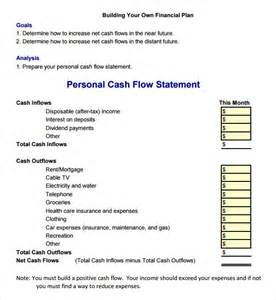 personal flow statement template flow statement 9 free sles exles format