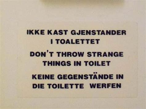 bathroom in german language a3 language sign in our bathroom norwegian english german