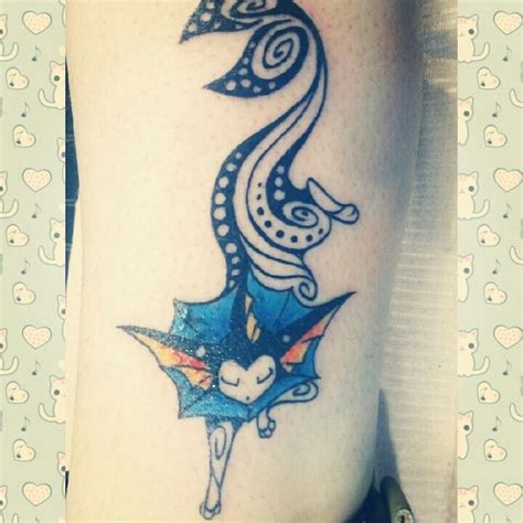 vaporeon tattoo vaporeon 3 tattoos