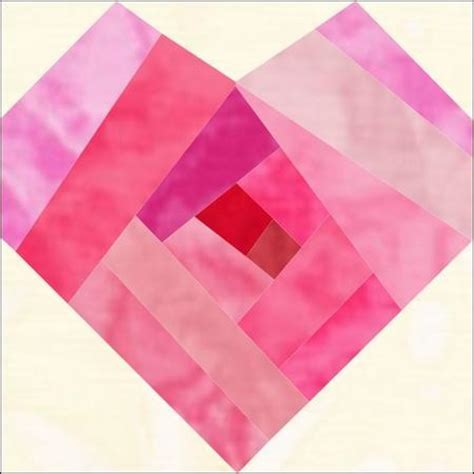 pattern for log cabin heart quilt free quilt block patterns for valentines day hearts