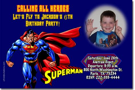 superman birthday card template superman birthday invitations birthday invitations wrappers thank you cards