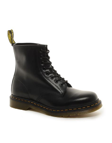 boots dr martins dr martens original 8 eye boots in black for lyst