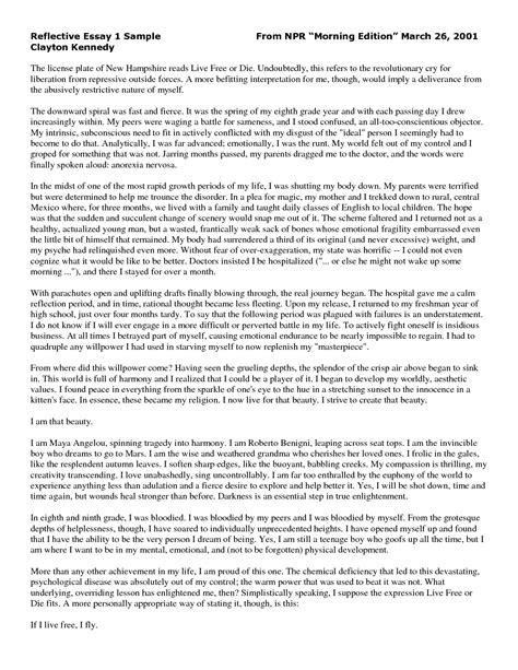 reflection sample essay best 25 self reflection essay ideas save