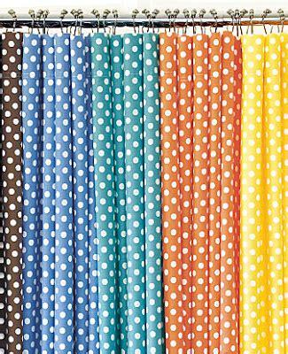 polka dot shower curtains tracie ellis design funky polka dot shower curtains