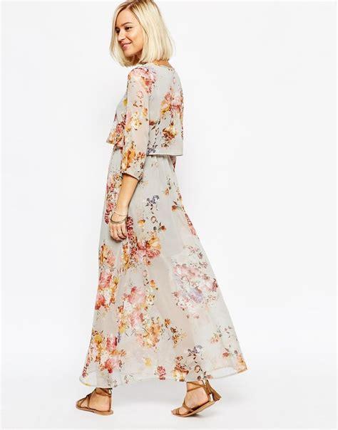 Drss 851 Dress Maxy Indiana image 2 of vero moda floral boho maxi dress ji