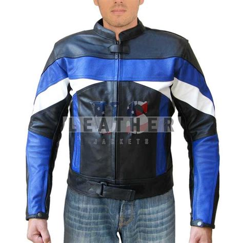 blue motorbike jacket leather motorcycle jackets motorcycle leather suit