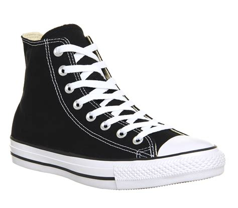 Converse Sport Black converse all hi trainers black canvas unisex sports