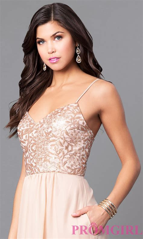 Bj Print White Glossy Dress gold chiffon prom dress with sequin bodice promgirl
