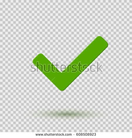 Green Check Transparent Background Transparent Green Checkmark Icon Symbol Yes Stock Vector 608508923