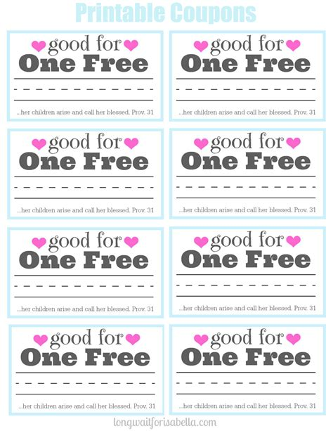 printable tickets and coupons free printables online printable coupon book for mom