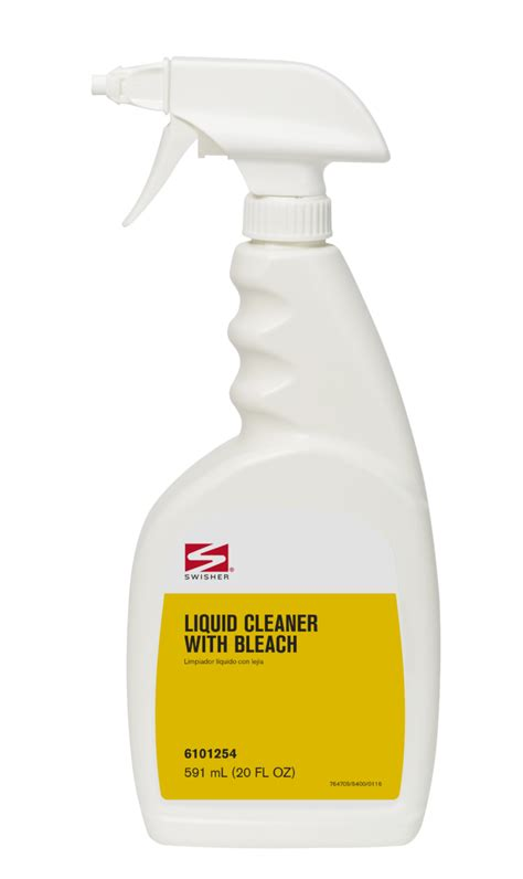 swisher bathroom supplies swisher liquid cleaner with bleach
