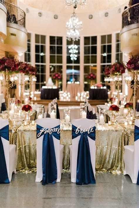 navy wedding table settings   polyester al