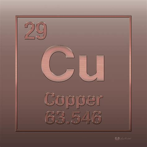 Cu On Periodic Table by Periodic Table Of Elements Copper Cu Copper On