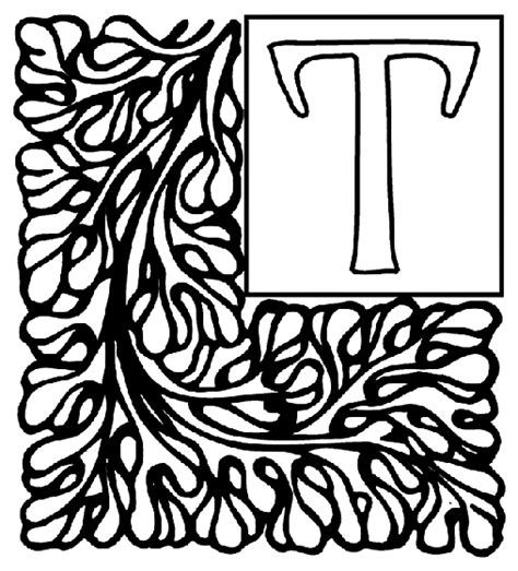 crayola coloring pages alphabet alphabet garden t coloring page crayola com
