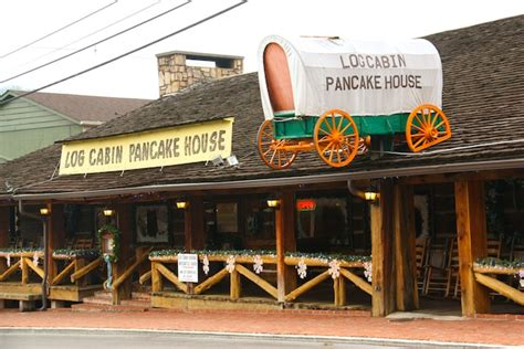 log cabin pancake house gatlinburg with kids log cabin pancake house the q family adventures travel blog