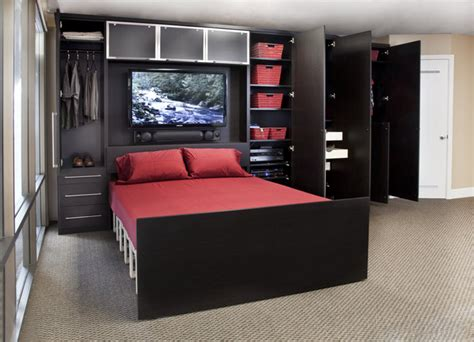 Theater Home Decor by Zoom Room Wall Bed Amp Custom Cabinetry Contemporary