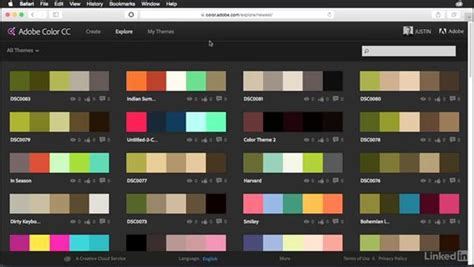 adobe colors touring the adobe color website interface