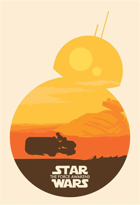 Poster A3 Wars Bb8 wars the awakens bb8 by indiefysh on etsy