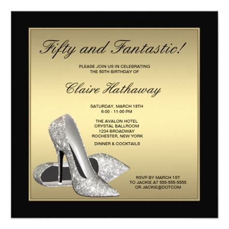 black gold high heels womans 50th birthday 5 25x5 25
