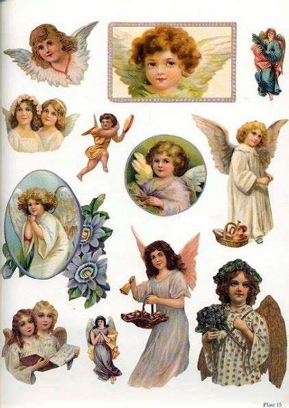 imagenes angeles vintage chromos de noel page 9