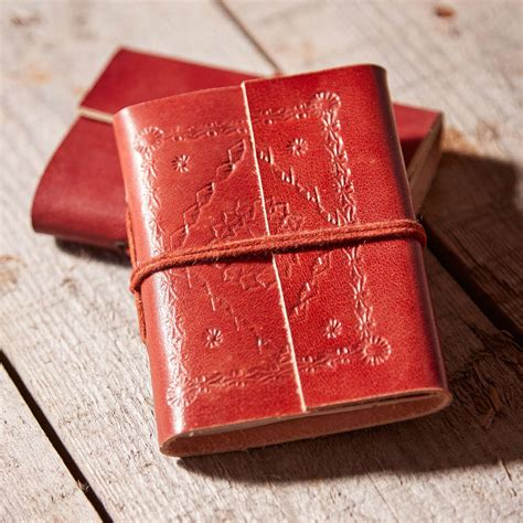 Handmade Leather Notebook - handmade leather notebooks by paper high