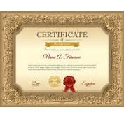 Luxury Golden Certificate Template Vector  Cover