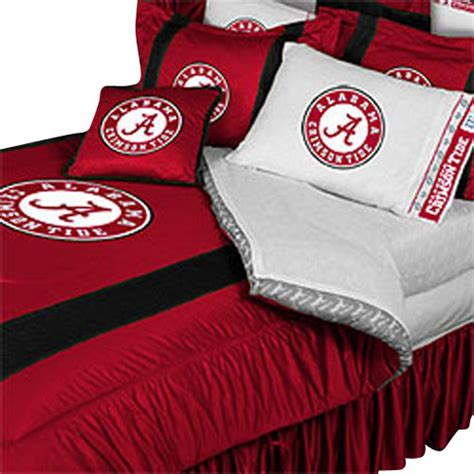 alabama crimson tide college queen full bed comforter set
