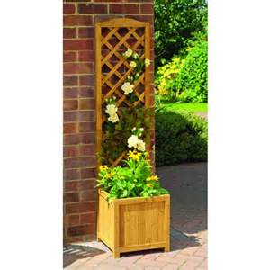 toulouse wooden trellis garden planter by garden