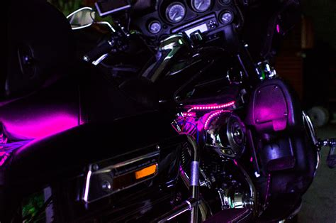purple led light strips for motorcycles pink motorcycle led light kit illumimoto
