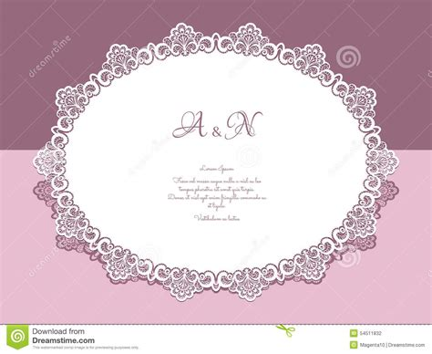 Paper Lace Templates Card by Lace Doily Stock Vector Image 54511832