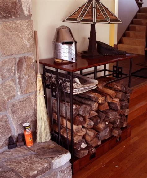 diy indoor firewood storage rack mission style indoor firewood rack learn more about this