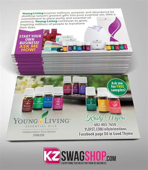 young living business cards free shipping