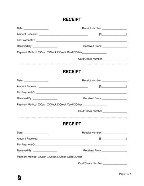 free receipt book template free receipt book template pdf word eforms free
