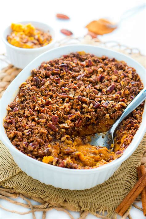 sweet potato casserole with pecan topping delicious