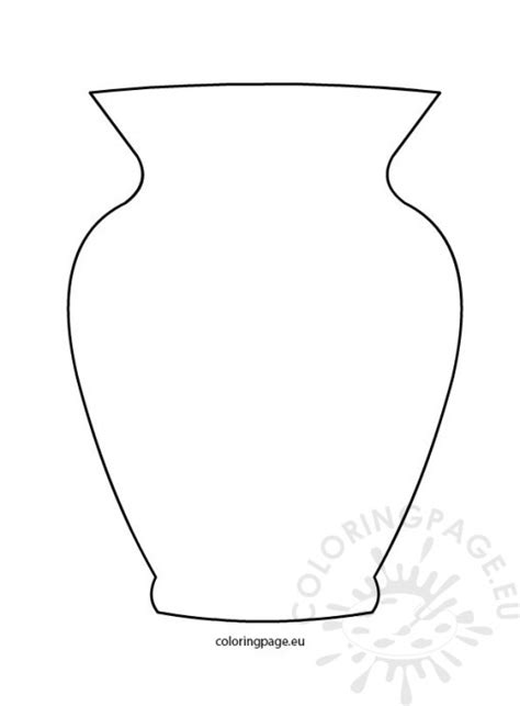 Vase Outline by Flower Pot