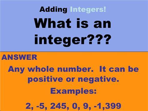 adding integers ppt