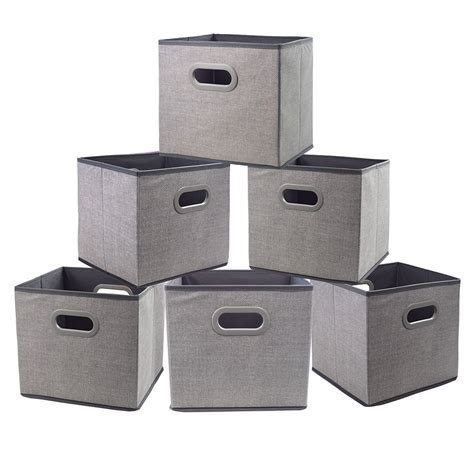 cloth storage bins cubes boxes fabric baskets containers