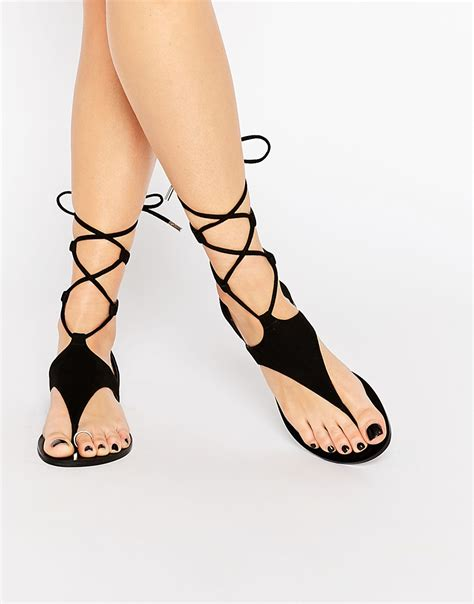 black tie up sandals kendall kendall faris black suede ghillie