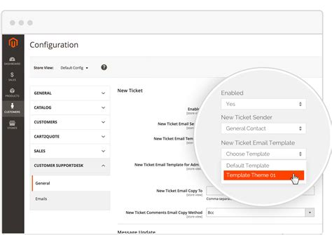 customer support email template magento customer service extension