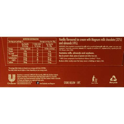 magnum ice cream nutrition label besto blog