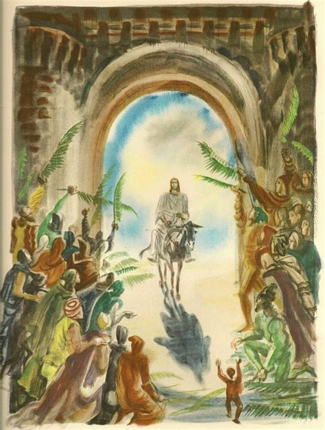 the triumphal entry sacred art meditations