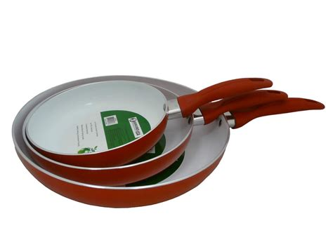 Teflon Eco Green concord eco healthy ceramic 3 pc nonstick fry pan set ebay